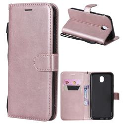 Retro Greek Classic Smooth PU Leather Wallet Phone Case for Samsung Galaxy J7 2017 J730 Eurasian - Rose Gold