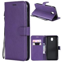 Retro Greek Classic Smooth PU Leather Wallet Phone Case for Samsung Galaxy J7 2017 J730 Eurasian - Purple