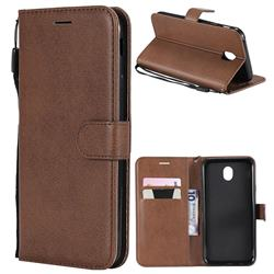 Retro Greek Classic Smooth PU Leather Wallet Phone Case for Samsung Galaxy J7 2017 J730 Eurasian - Brown