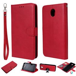 Retro Greek Detachable Magnetic PU Leather Wallet Phone Case for Samsung Galaxy J7 2017 J730 Eurasian - Red