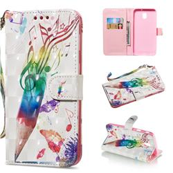 Music Pen 3D Painted Leather Wallet Phone Case for Samsung Galaxy J7 2017 J730 Eurasian