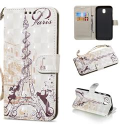 Tower Couple 3D Painted Leather Wallet Phone Case for Samsung Galaxy J7 2017 J730 Eurasian