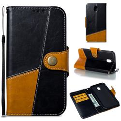 Retro Magnetic Stitching Wallet Flip Cover for Samsung Galaxy J7 2017 J730 Eurasian - Black