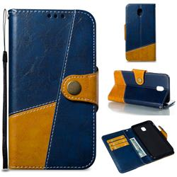 Retro Magnetic Stitching Wallet Flip Cover for Samsung Galaxy J7 2017 J730 Eurasian - Blue