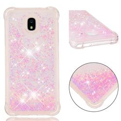 Dynamic Liquid Glitter Sand Quicksand TPU Case for Samsung Galaxy J7 (2018) - Silver Powder Star