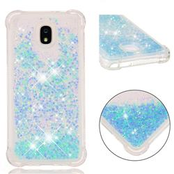 Dynamic Liquid Glitter Sand Quicksand TPU Case for Samsung Galaxy J7 (2018) - Silver Blue Star