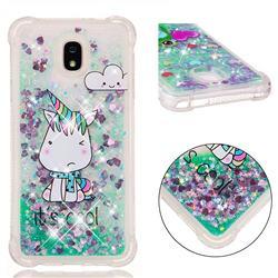 Tiny Unicorn Dynamic Liquid Glitter Sand Quicksand Star TPU Case for Samsung Galaxy J7 (2018)