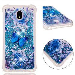 Flower Butterfly Dynamic Liquid Glitter Sand Quicksand Star TPU Case for Samsung Galaxy J7 (2018)