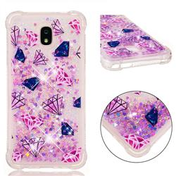 Diamond Dynamic Liquid Glitter Sand Quicksand Star TPU Case for Samsung Galaxy J7 (2018)