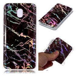 Black Brown Marble Pattern Bright Color Laser Soft TPU Case for Samsung Galaxy J7 (2018)