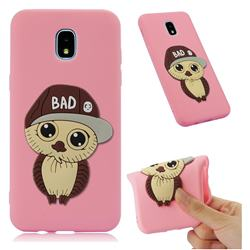 Bad Boy Owl Soft 3D Silicone Case for Samsung Galaxy J7 (2018) - Pink
