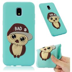 Bad Boy Owl Soft 3D Silicone Case for Samsung Galaxy J7 (2018) - Sky Blue