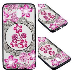 Daffodil Lace Diamond Flower Soft TPU Back Cover for Samsung Galaxy J7 (2018)