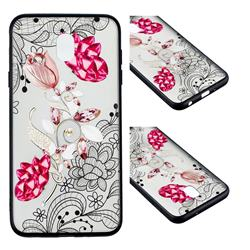 Tulip Lace Diamond Flower Soft TPU Back Cover for Samsung Galaxy J7 (2018)