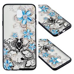 Lilac Lace Diamond Flower Soft TPU Back Cover for Samsung Galaxy J7 (2018)