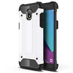 King Kong Armor Premium Shockproof Dual Layer Rugged Hard Cover for Samsung Galaxy J7 (2018) - White