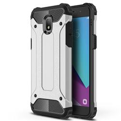 King Kong Armor Premium Shockproof Dual Layer Rugged Hard Cover for Samsung Galaxy J7 (2018) - Technology Silver