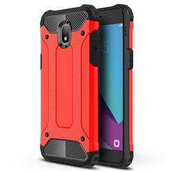 King Kong Armor Premium Shockproof Dual Layer Rugged Hard Cover for Samsung Galaxy J7 (2018) - Big Red