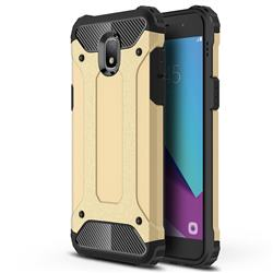 King Kong Armor Premium Shockproof Dual Layer Rugged Hard Cover for Samsung Galaxy J7 (2018) - Champagne Gold