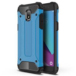 King Kong Armor Premium Shockproof Dual Layer Rugged Hard Cover for Samsung Galaxy J7 (2018) - Sky Blue