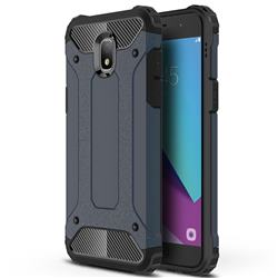 King Kong Armor Premium Shockproof Dual Layer Rugged Hard Cover for Samsung Galaxy J7 (2018) - Navy