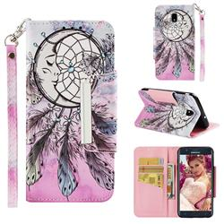 Angel Monternet Big Metal Buckle PU Leather Wallet Phone Case for Samsung Galaxy J7 (2018)