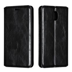 Retro Slim Magnetic Crazy Horse PU Leather Wallet Case for Samsung Galaxy J7 (2018) - Black
