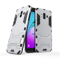 Armor Premium Tactical Grip Kickstand Shockproof Dual Layer Rugged Hard Cover for Samsung Galaxy J7 Duo