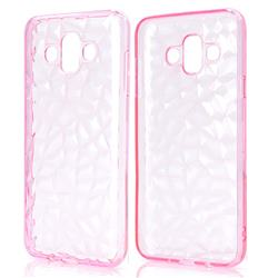 Diamond Pattern Shining Soft TPU Phone Back Cover for Samsung Galaxy J7 Duo - Pink