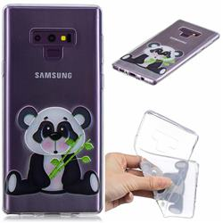 Bamboo Panda Clear Varnish Soft Phone Back Cover for Samsung Galaxy J7 Duo