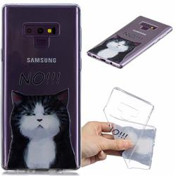 Cat Say No Clear Varnish Soft Phone Back Cover for Samsung Galaxy J7 Duo