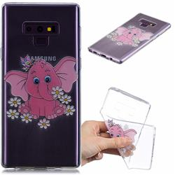 Tiny Pink Elephant Clear Varnish Soft Phone Back Cover for Samsung Galaxy J7 Duo