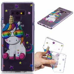 Glasses Unicorn Clear Varnish Soft Phone Back Cover for Samsung Galaxy J7 Duo