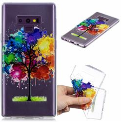 Oil Painting Tree Clear Varnish Soft Phone Back Cover for Samsung Galaxy J7 Duo