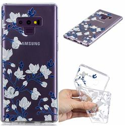 Magnolia Flower Clear Varnish Soft Phone Back Cover for Samsung Galaxy J7 Duo