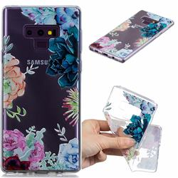 Gem Flower Clear Varnish Soft Phone Back Cover for Samsung Galaxy J7 Duo