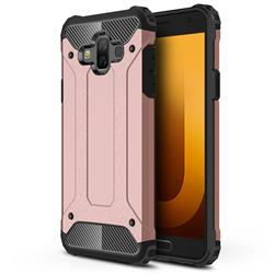 King Kong Armor Premium Shockproof Dual Layer Rugged Hard Cover for Samsung Galaxy J7 Duo - Rose Gold