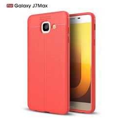 Luxury Auto Focus Litchi Texture Silicone TPU Back Cover for Samsung Galaxy J7 Max G615F - Red