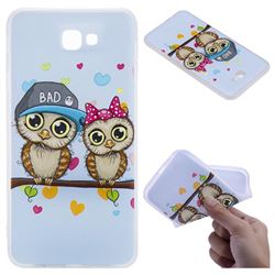 Couple Owls 3D Relief Matte Soft TPU Back Cover for Samsung Galaxy J7 Prime G610