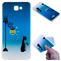 Street Light Cat 3D Relief Matte Soft TPU Back Cover for Samsung Galaxy J7 Prime G610
