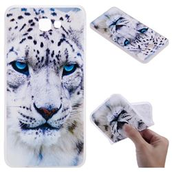 White Leopard 3D Relief Matte Soft TPU Back Cover for Samsung Galaxy J7 Prime G610