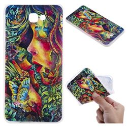 Butterfly Kiss 3D Relief Matte Soft TPU Back Cover for Samsung Galaxy J7 Prime G610