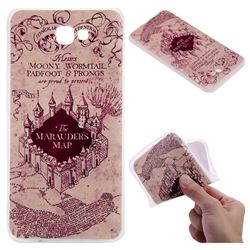Castle The Marauders Map 3D Relief Matte Soft TPU Back Cover for Samsung Galaxy J7 Prime G610