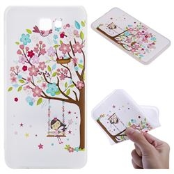 Tree and Girl 3D Relief Matte Soft TPU Back Cover for Samsung Galaxy J7 Prime G610