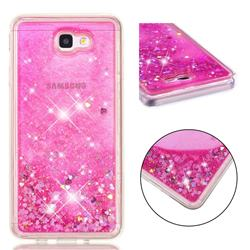 Dynamic Liquid Glitter Quicksand Sequins TPU Phone Case for Samsung Galaxy J7 Prime G610 - Rose