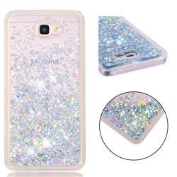 Dynamic Liquid Glitter Quicksand Sequins TPU Phone Case for Samsung Galaxy J7 Prime G610 - Silver