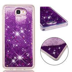 Dynamic Liquid Glitter Quicksand Sequins TPU Phone Case for Samsung Galaxy J7 Prime G610 - Purple