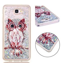 Seashell Owl Dynamic Liquid Glitter Quicksand Soft TPU Case for Samsung Galaxy J7 Prime G610