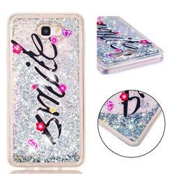 Smile Flower Dynamic Liquid Glitter Quicksand Soft TPU Case for Samsung Galaxy J7 Prime G610