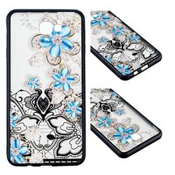 Lilac Lace Diamond Flower Soft TPU Back Cover for Samsung Galaxy J7 Prime G610